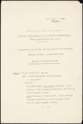 Répertoire International des Collections d'Art Byzantin (Réunion de Rome, 21 Septembre 1936) Rapp...