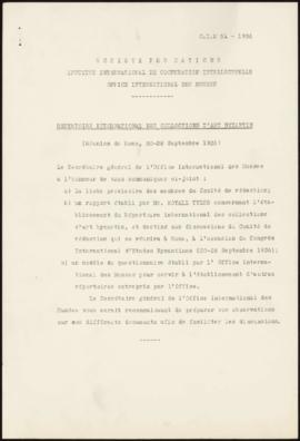 Répertoire International des Collections d'Art Byzantin (Réunion de Rome, 20-28 Septembre 1936)