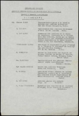 Comité d'Experts Archivistes 2-3 Avril 1931
