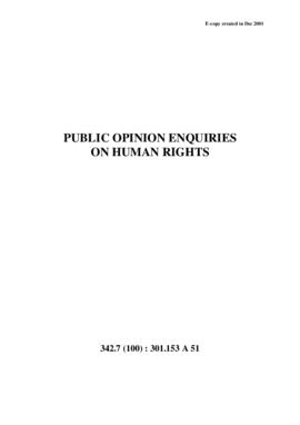 Public Opinion Enquiries on Human Rights