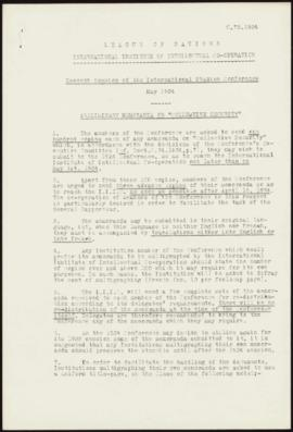 Seventh Session of the International Studies Conference, May, 1934 - Preliminary Memoranda on &qu...