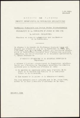 Preparation of the 1935 Study Conference on Collective Security - Memorandum – Denmark