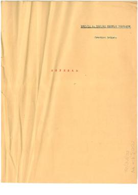 Regular Programme - Creative Artists - General File 1954-1955 to 1961-1962
