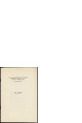 The International Education Research Council and World Bureau of Education. Document de G.W. Luckey