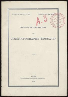 L'Institut international du Cinéma éducatif