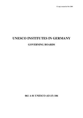 UNESCO Institutes in Germany - Governing Boards