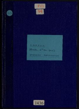 Yugoslavia - Ratification of the UNESCO Constitution